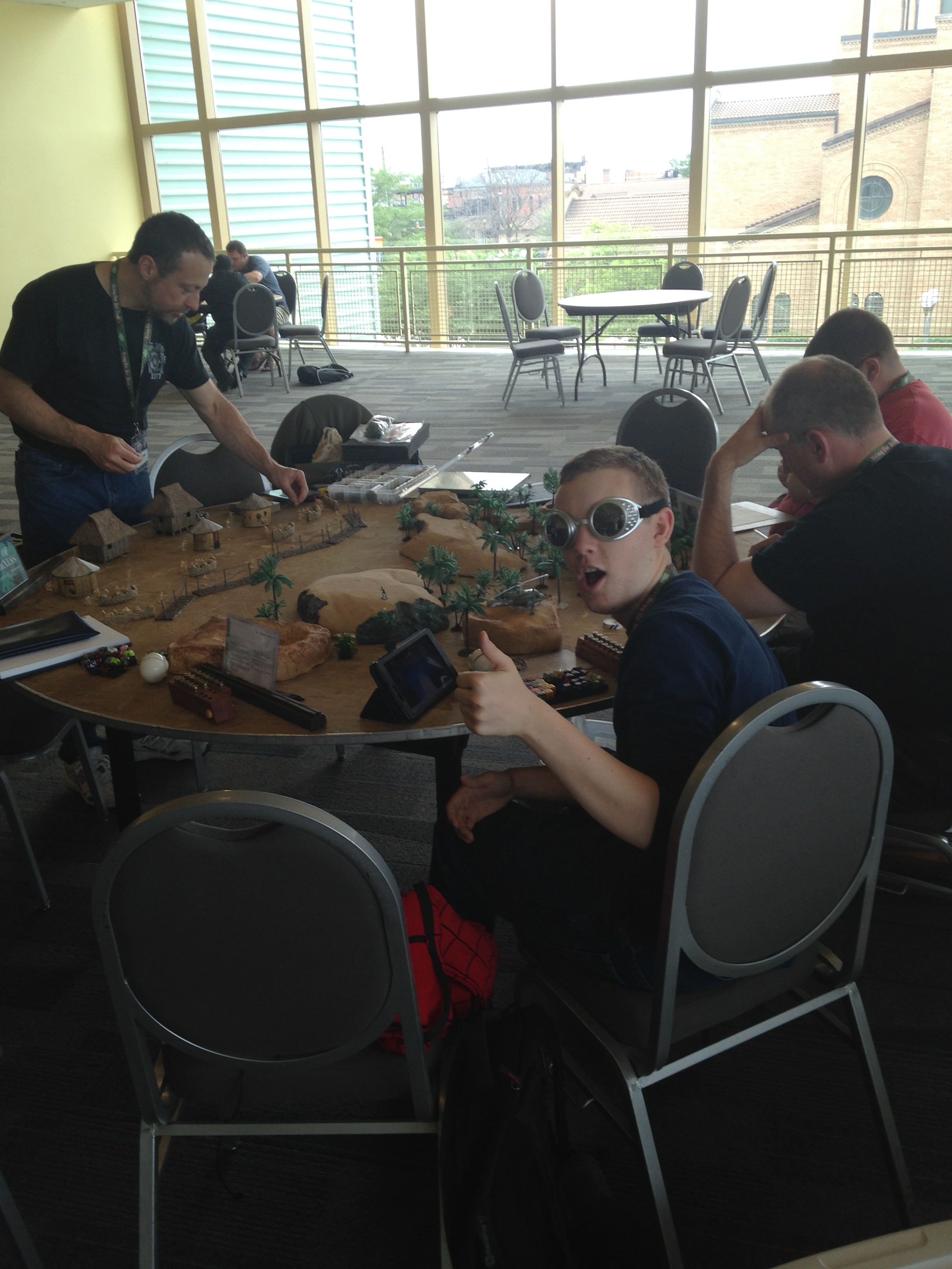 Mike setting up the endless NVA foes in his Tour of Darkness game