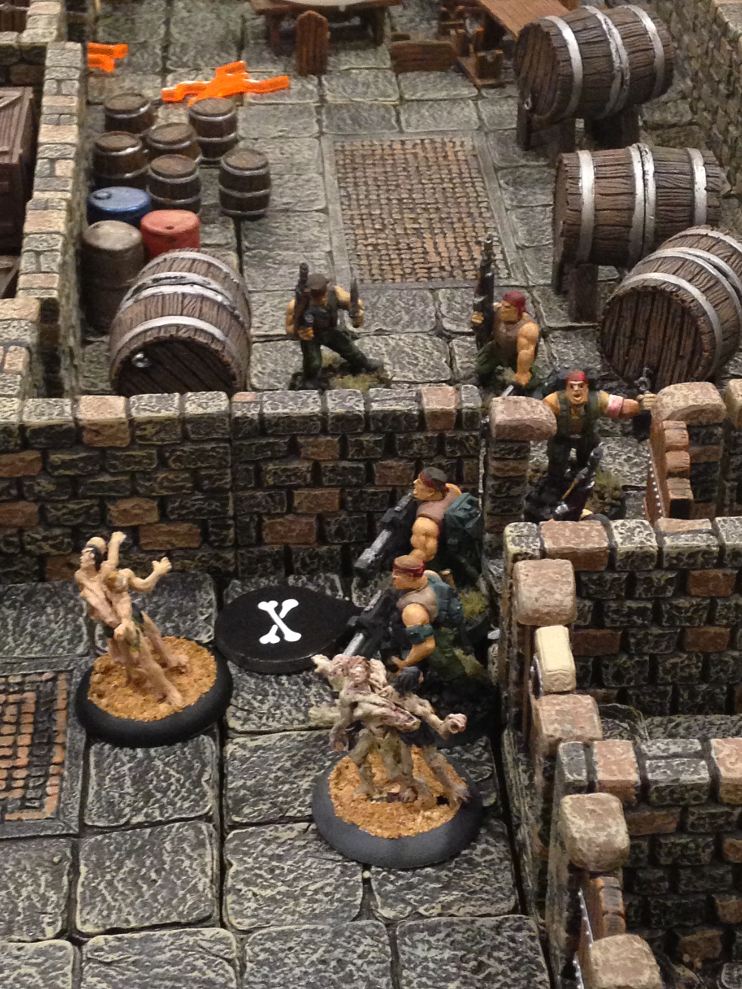Tour of Darkness: The heroes fight their way through the tunnels.