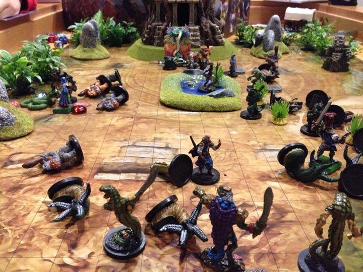 Mordheim: The carnage at the Sacred Shrine.