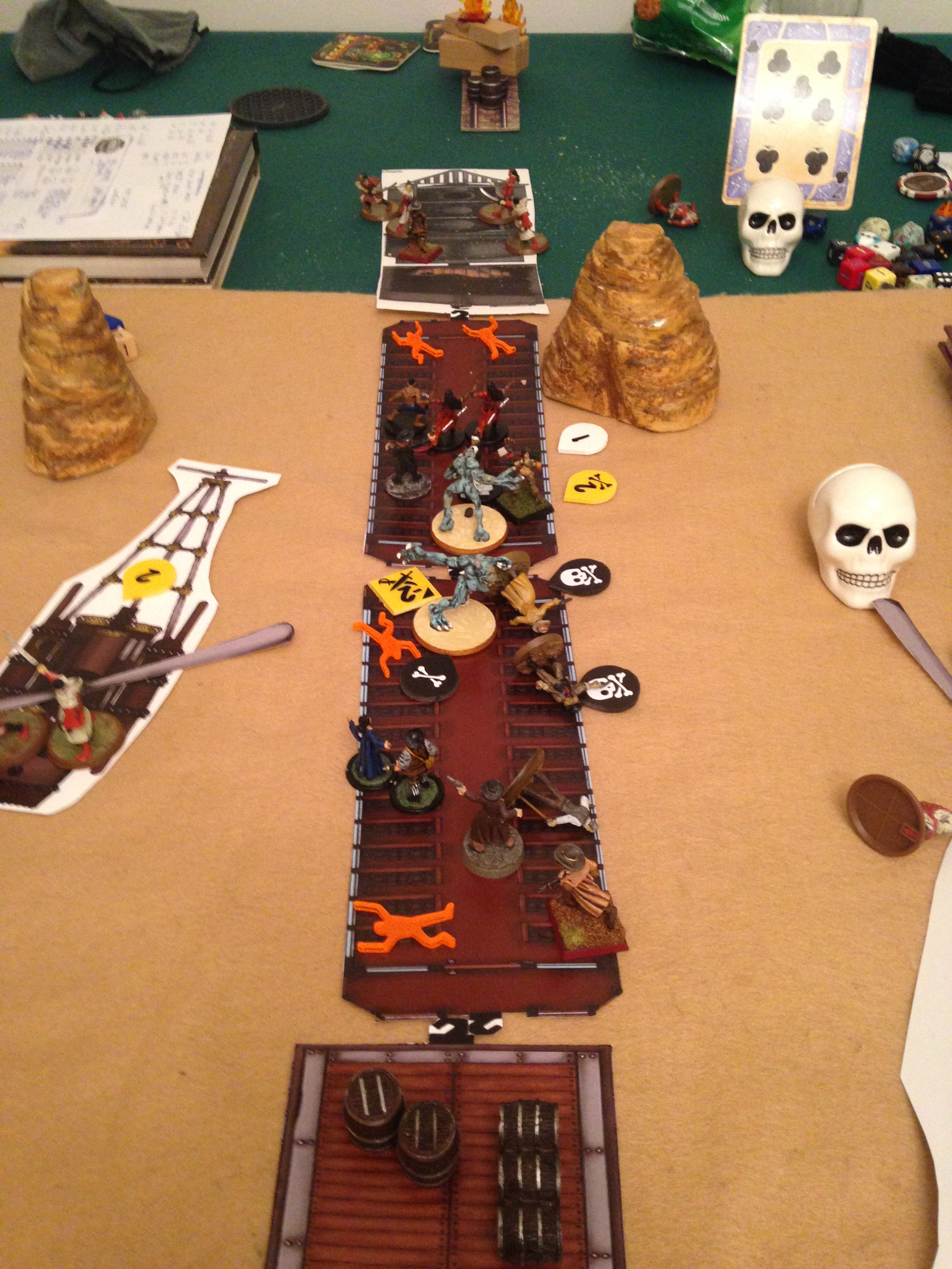 Things are looking bad for the posse as two Chinese Ogres attack.